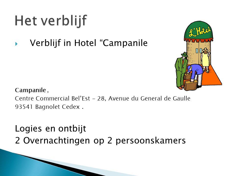 Het verblijf Verblijf in Hotel Campanile Logies en ontbijt
