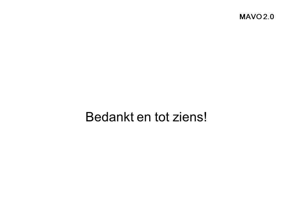 MAVO 2.0 Bedankt en tot ziens!