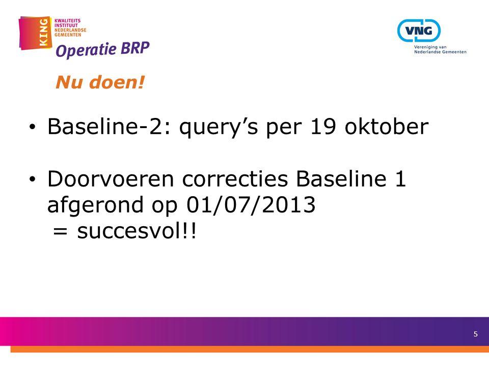 Baseline-2: query's per 19 oktober