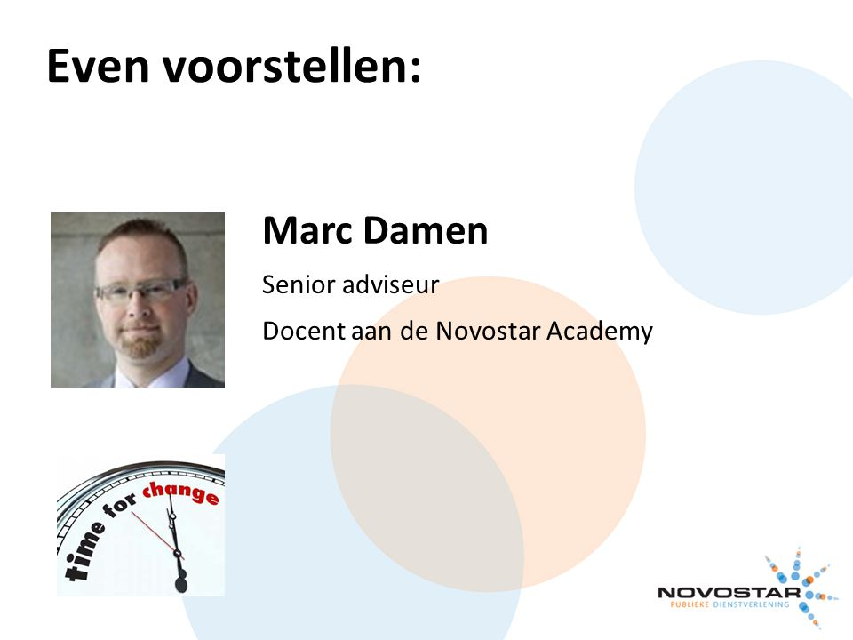 Even voorstellen: Marc Damen Senior adviseur