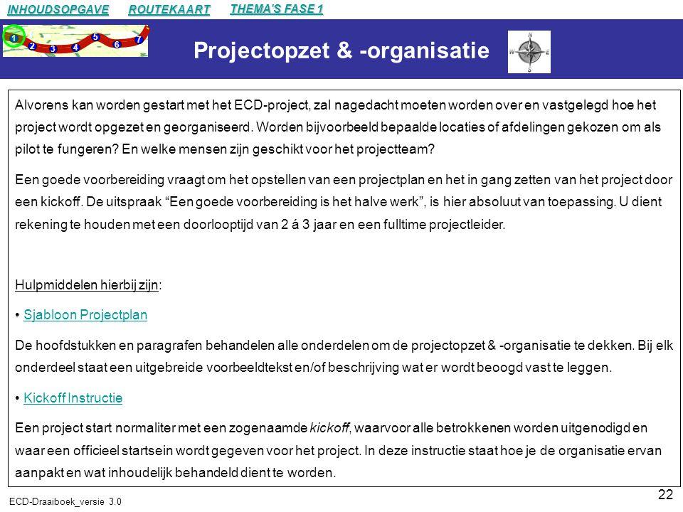 Projectopzet & -organisatie