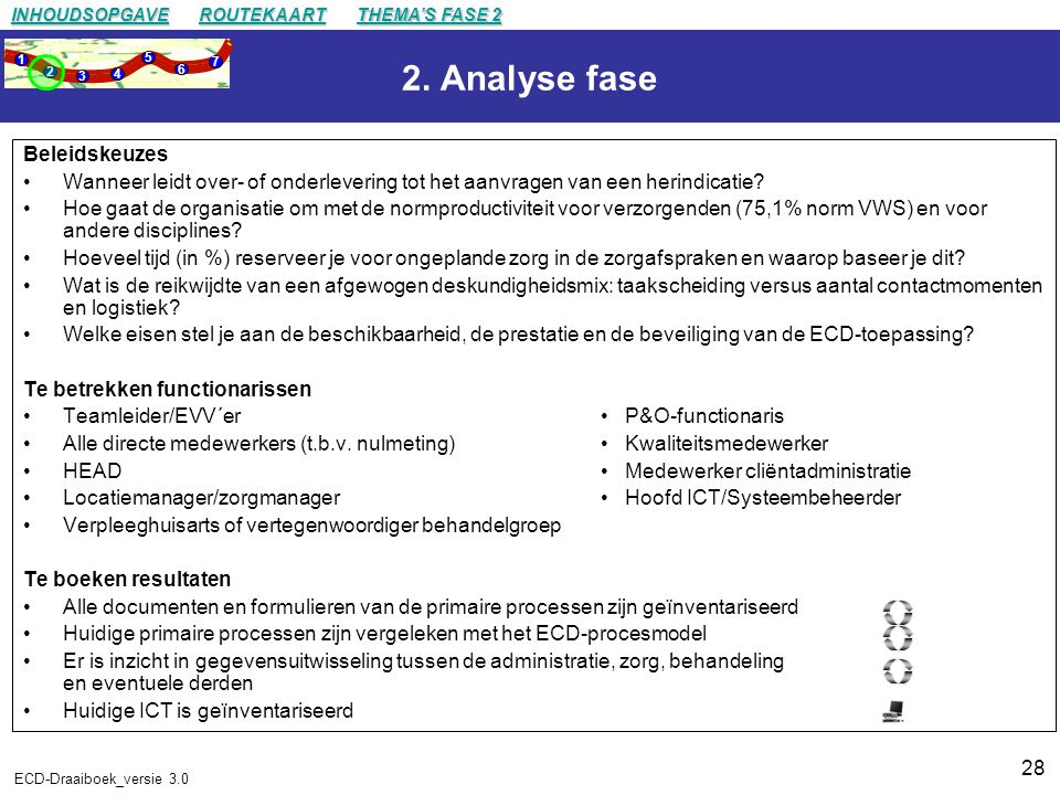 2. Analyse fase Beleidskeuzes