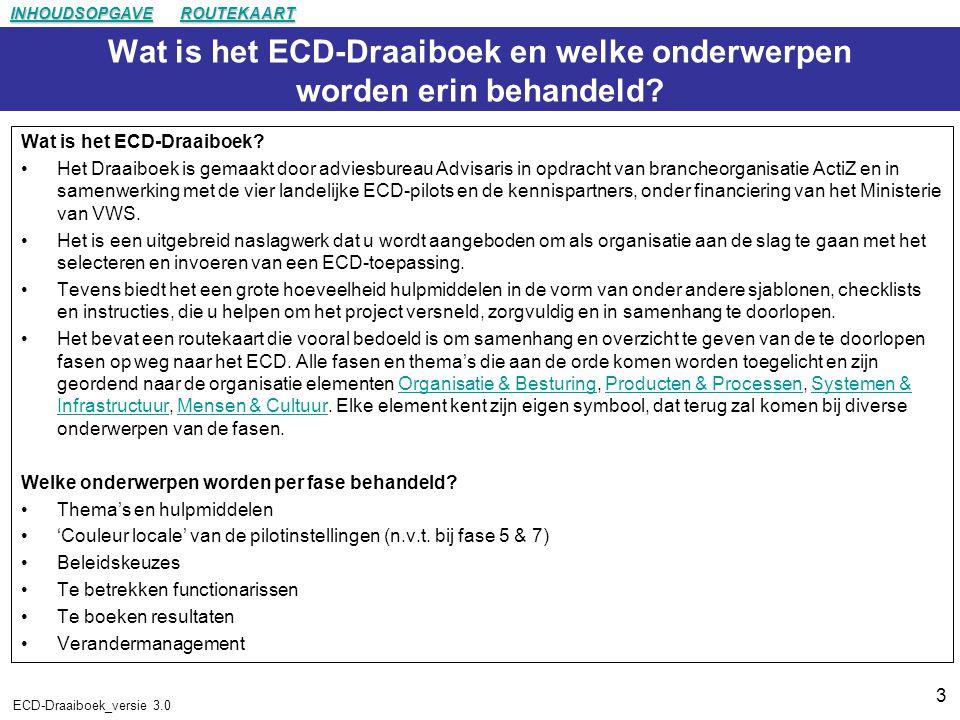 Wat is het ECD-Draaiboek en welke onderwerpen worden erin behandeld