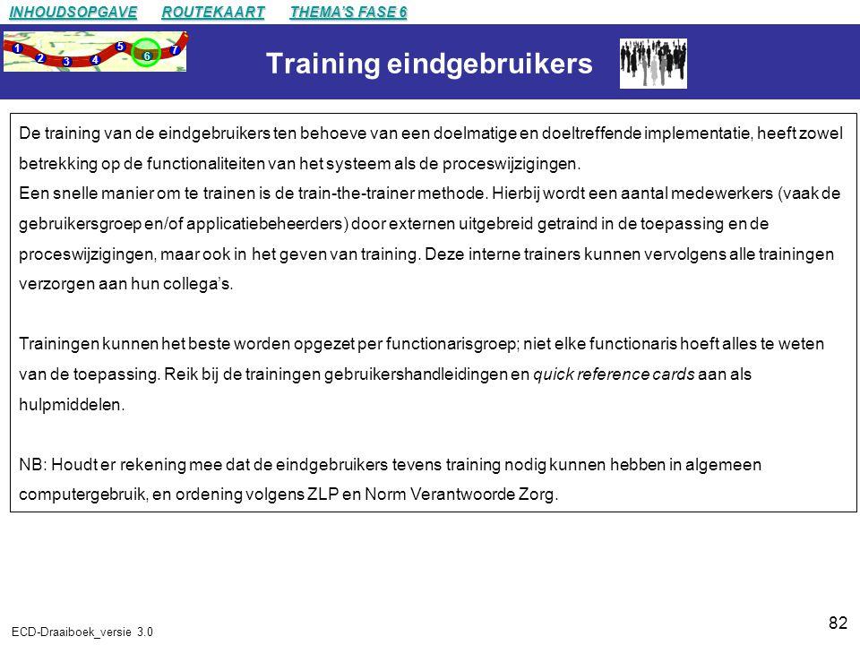 Training eindgebruikers