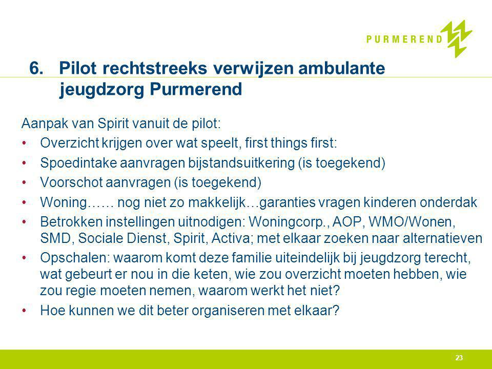 6. Pilot rechtstreeks verwijzen ambulante jeugdzorg Purmerend
