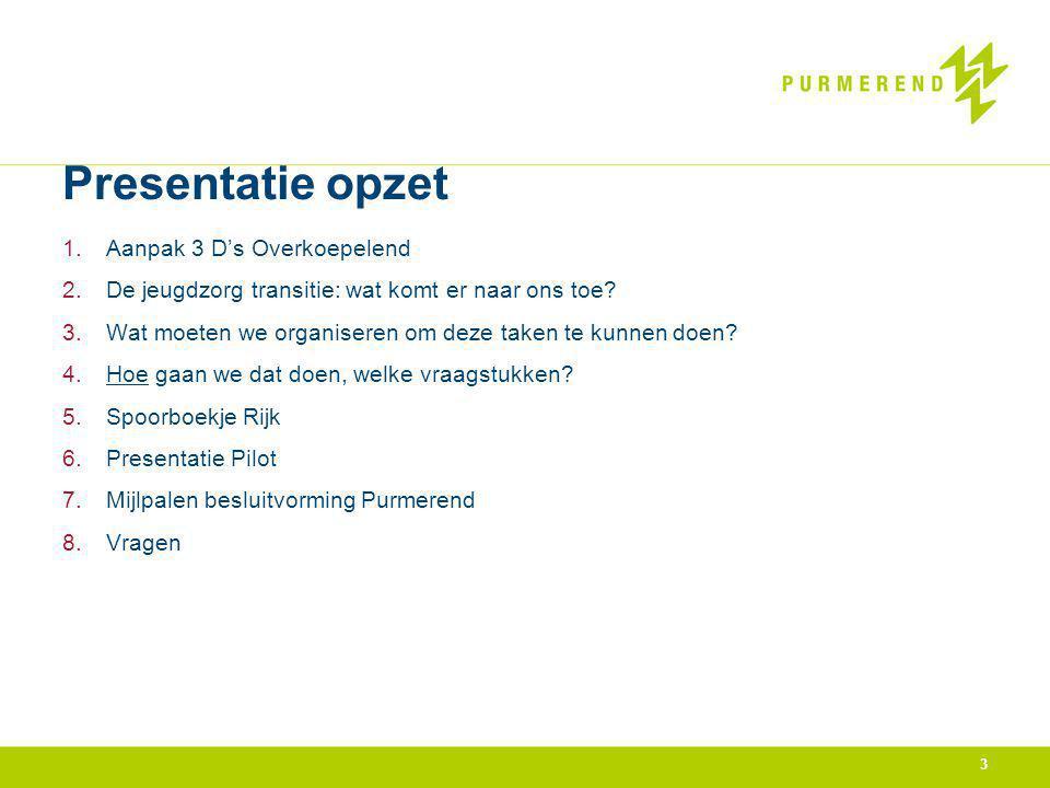 Presentatie opzet Aanpak 3 D's Overkoepelend