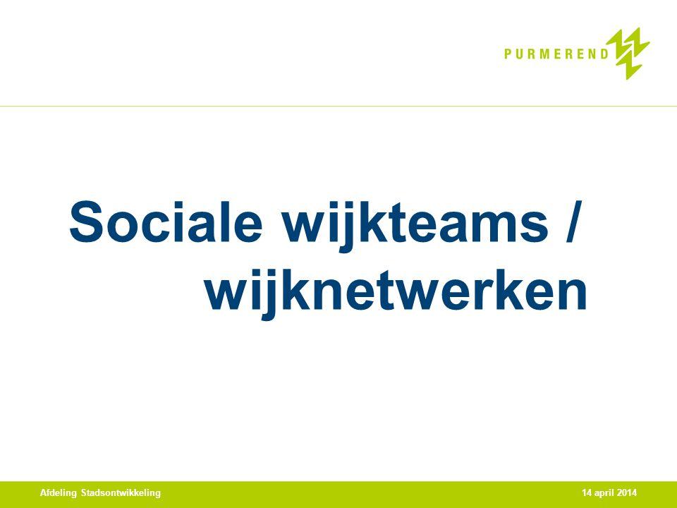 Sociale wijkteams / wijknetwerken
