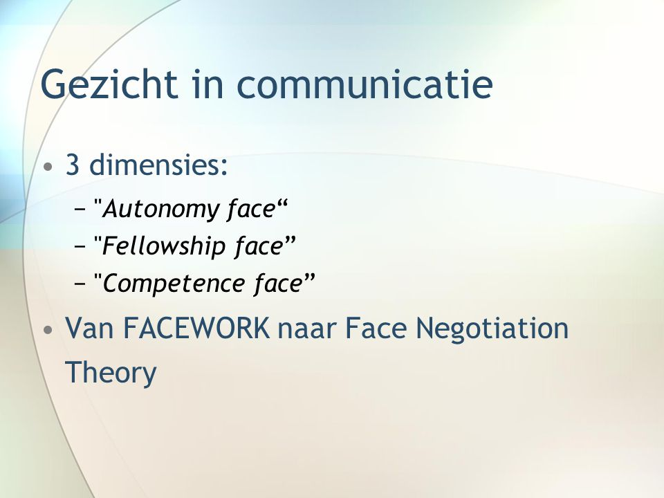 Gezicht in communicatie
