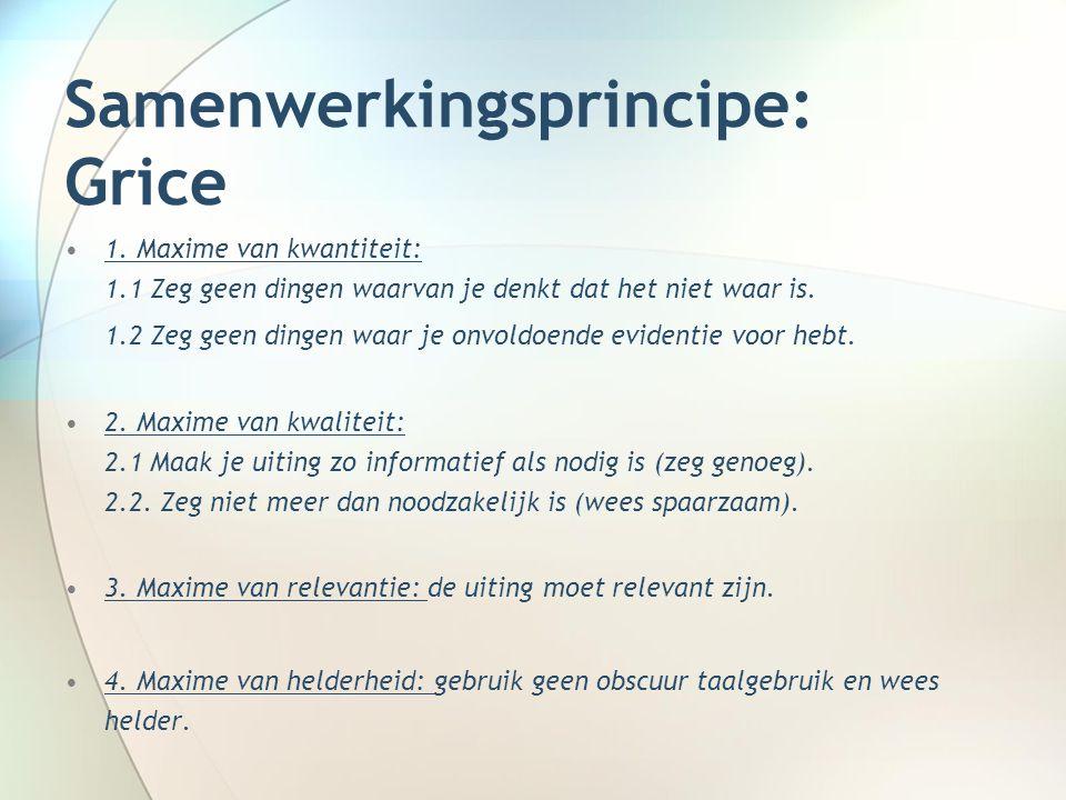 Samenwerkingsprincipe: Grice