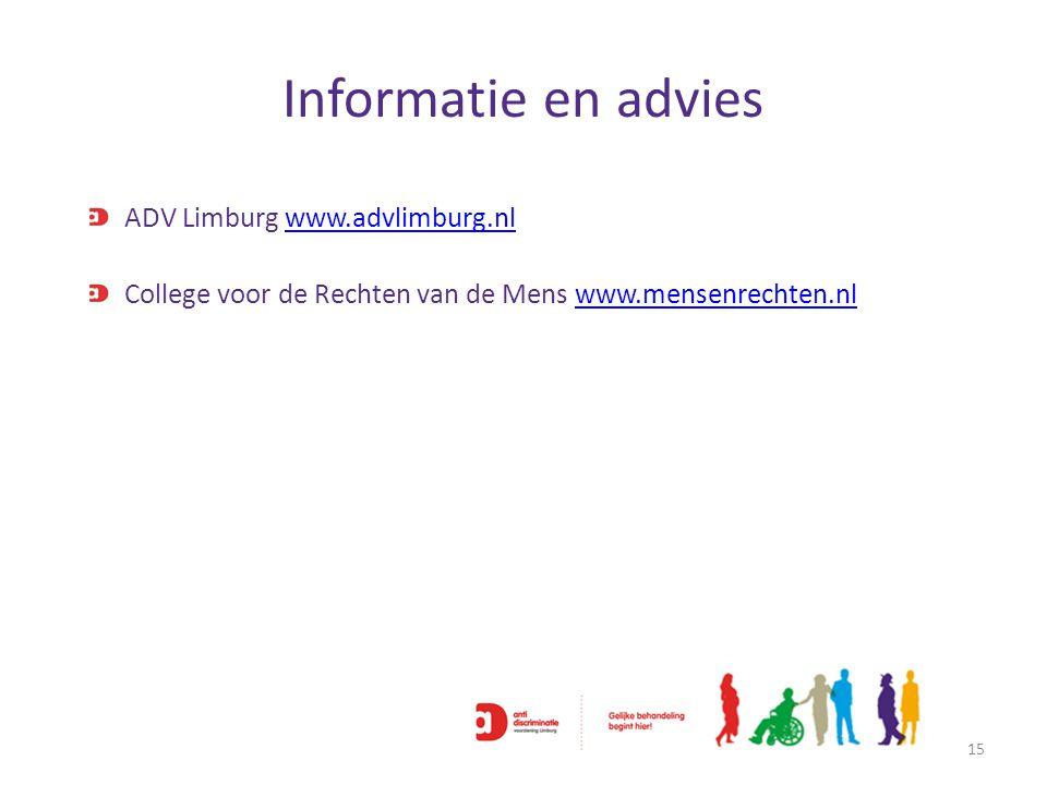 Informatie en advies ADV Limburg www.advlimburg.nl