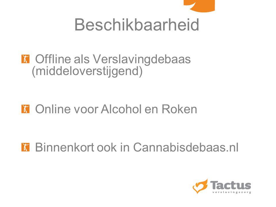 Beschikbaarheid Offline als Verslavingdebaas (middeloverstijgend)