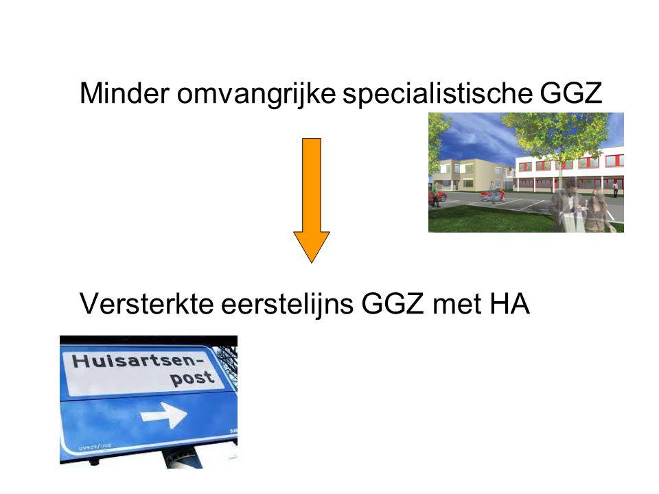 Minder omvangrijke specialistische GGZ