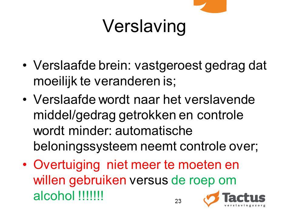 Verslaving Verslaafde brein: vastgeroest gedrag dat moeilijk te veranderen is;
