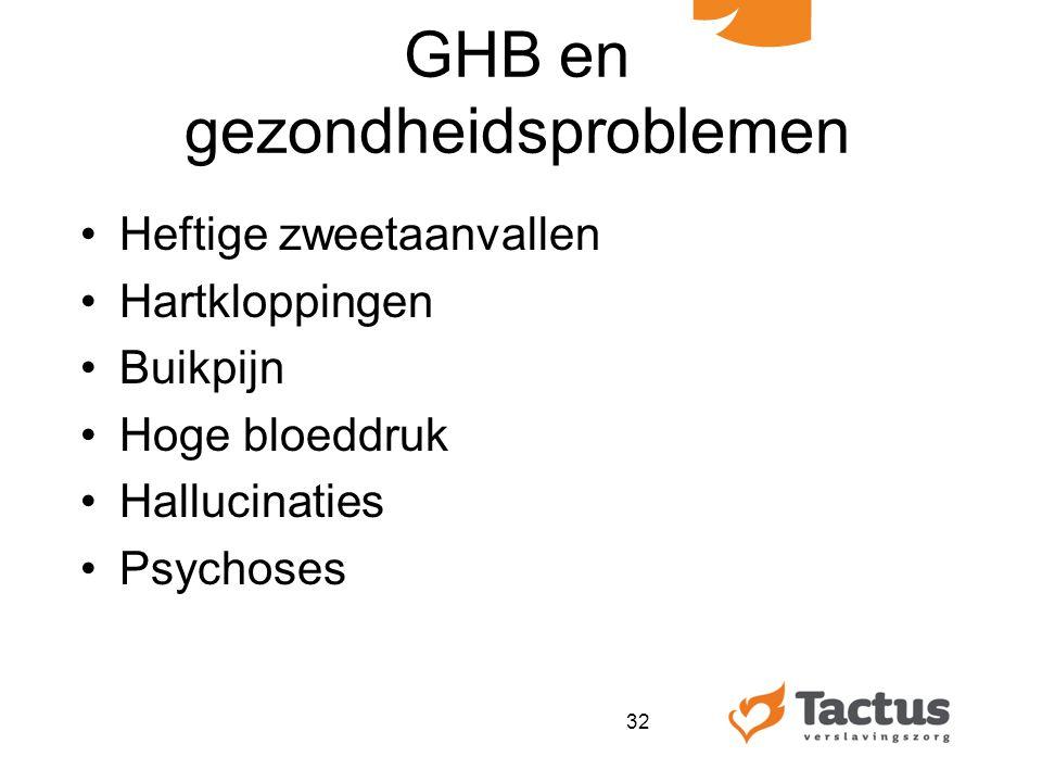 GHB en gezondheidsproblemen
