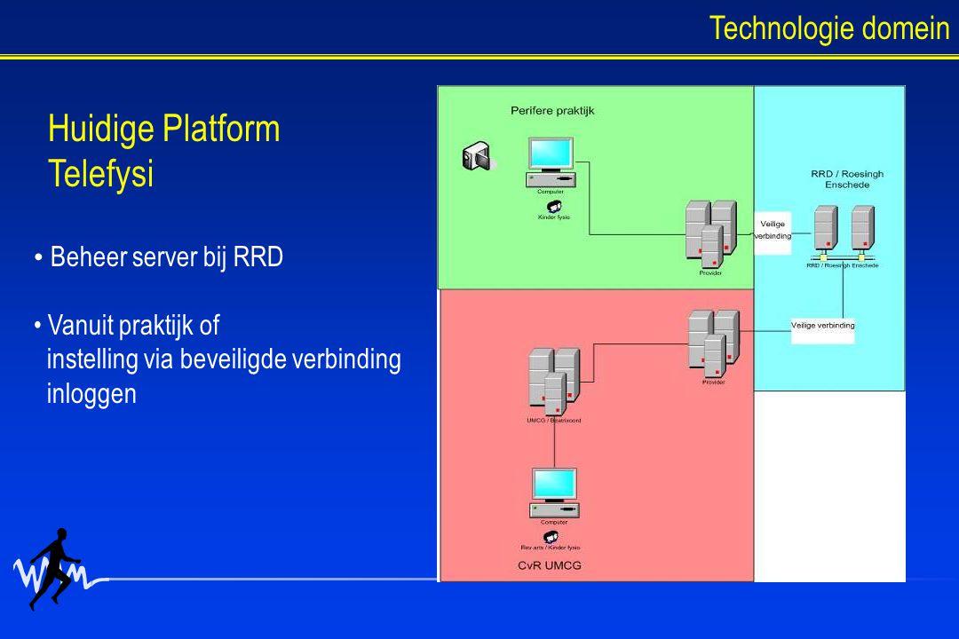 Huidige Platform Telefysi Technologie domein Beheer server bij RRD