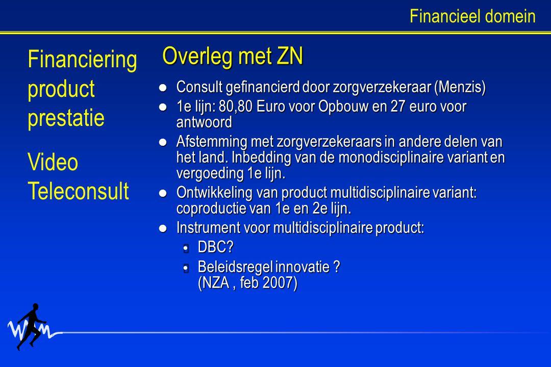 Financiering product prestatie