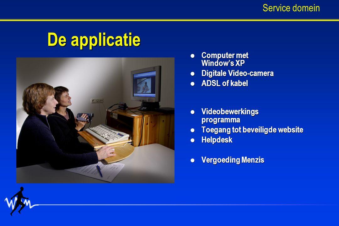 De applicatie Service domein Computer met Window's XP