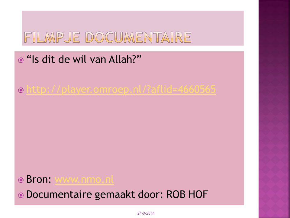 Is dit de wil van Allah http://player.omroep.nl/ aflid=4660565