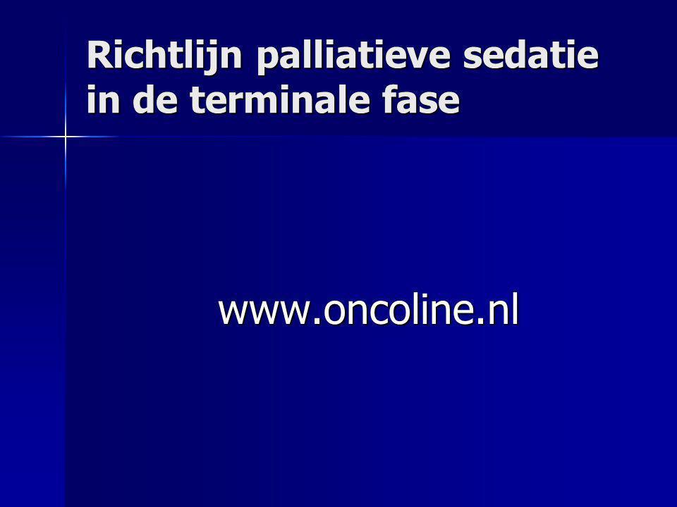 Richtlijn palliatieve sedatie in de terminale fase