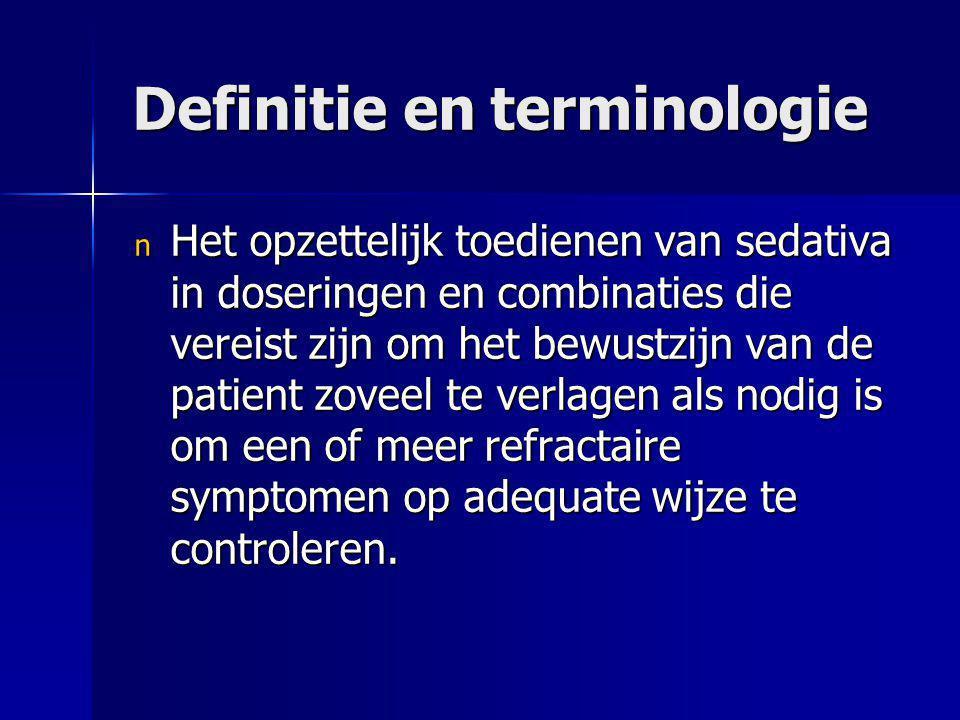 Definitie en terminologie