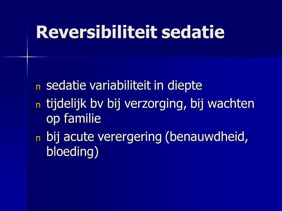Reversibiliteit sedatie