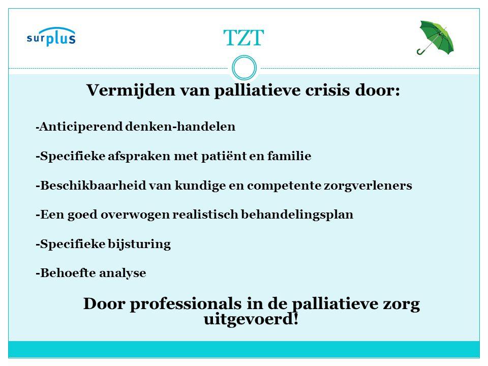 Vermijden van palliatieve crisis door: