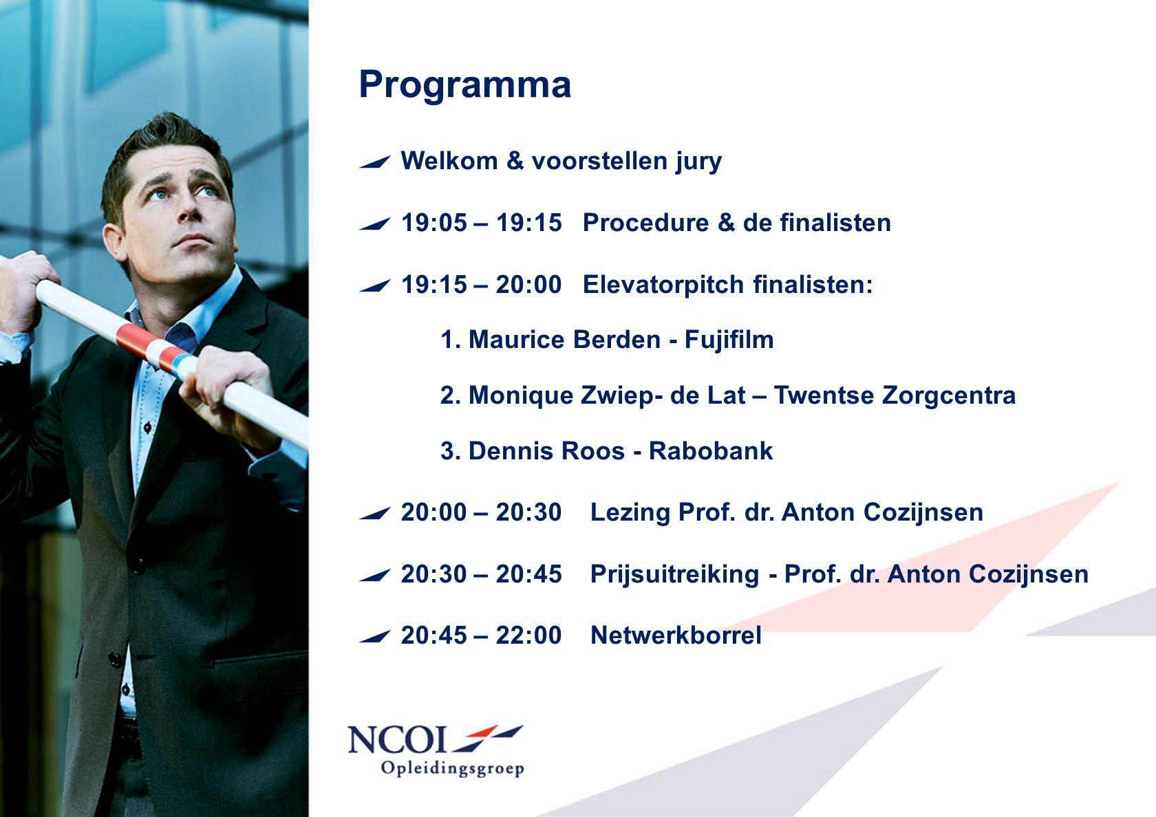 Programma Welkom & voorstellen jury