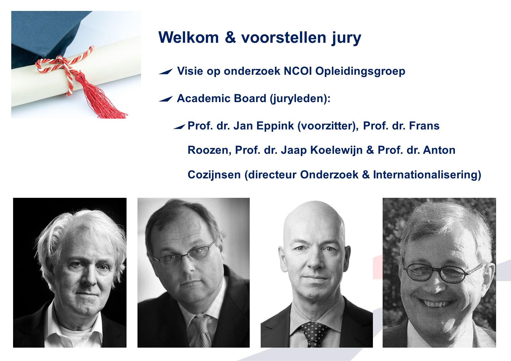 Welkom & voorstellen jury