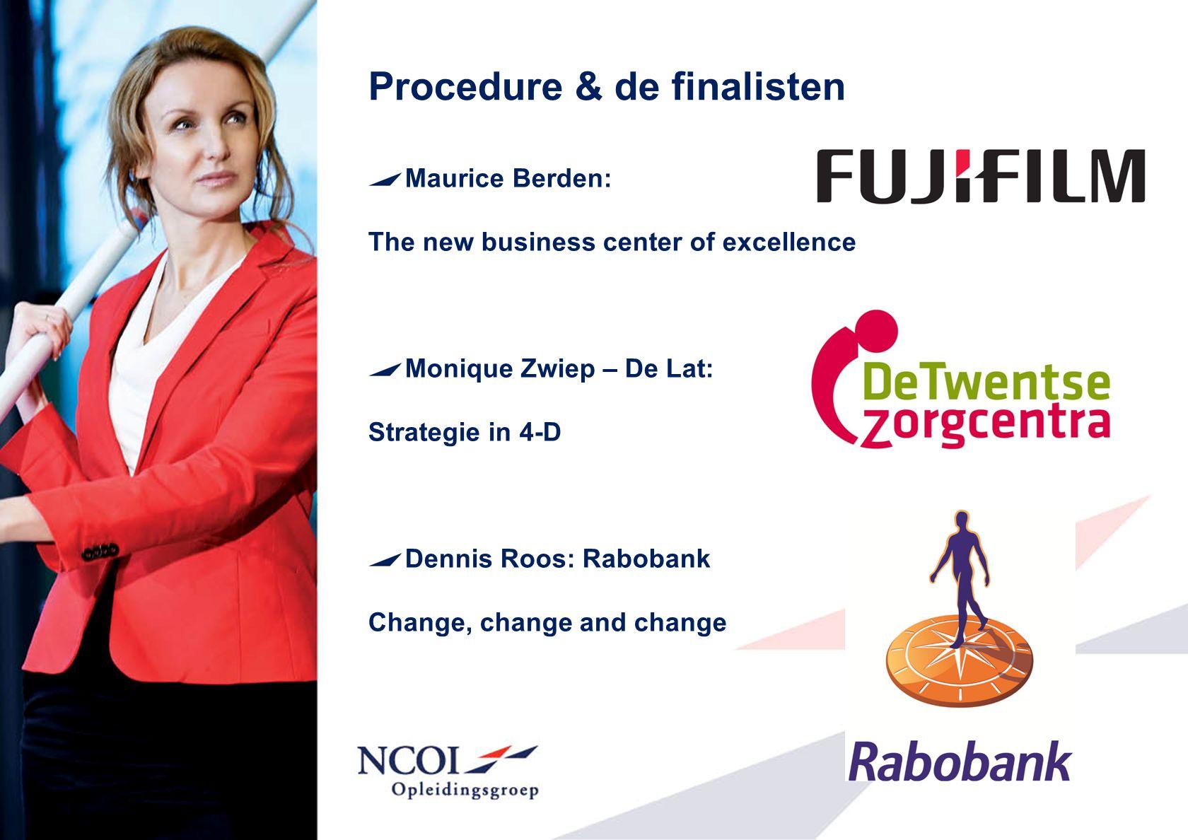 Procedure & de finalisten