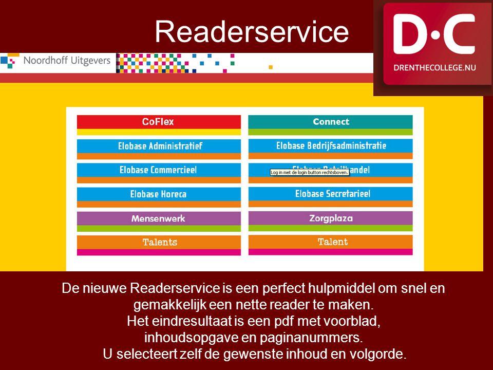 Readerservice De nieuwe Readerservice is een perfect hulpmiddel om snel en. gemakkelijk een nette reader te maken.