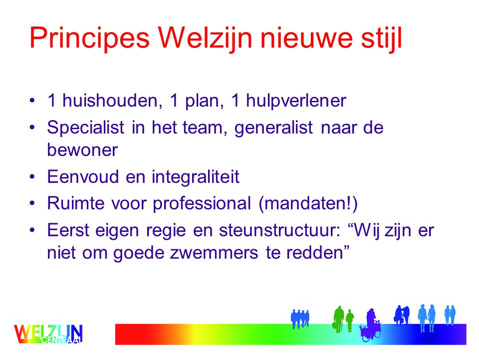 Principes Welzijn nieuwe stijl