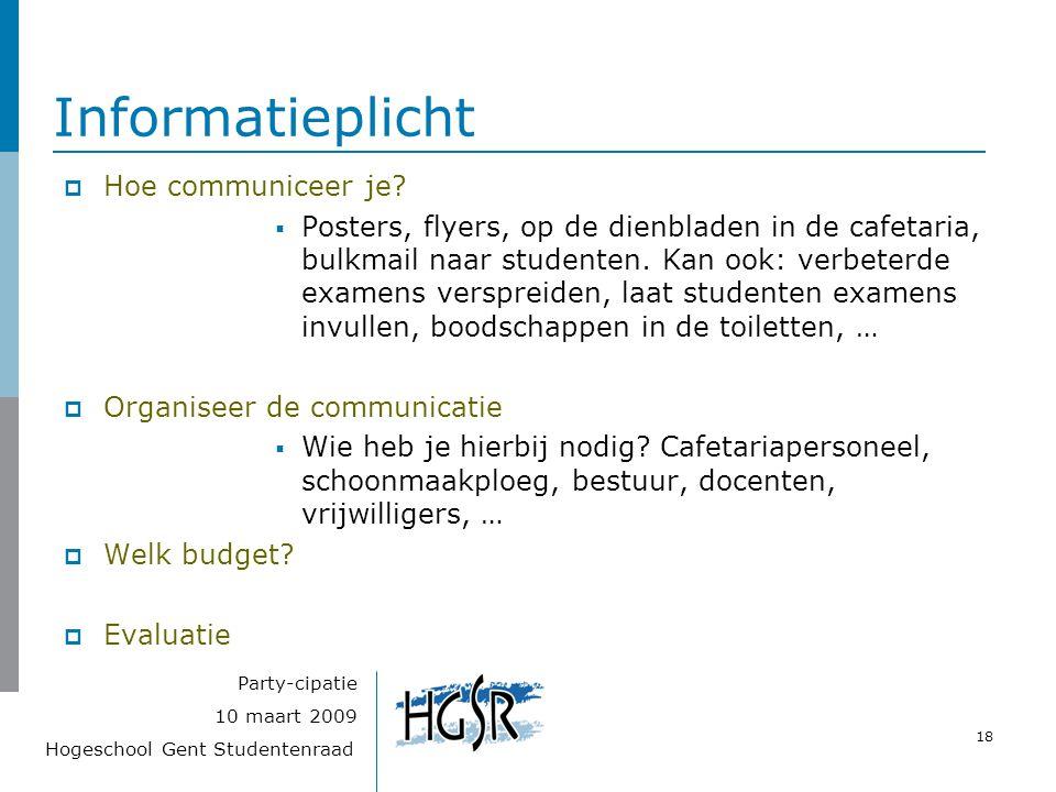 Informatieplicht Hoe communiceer je