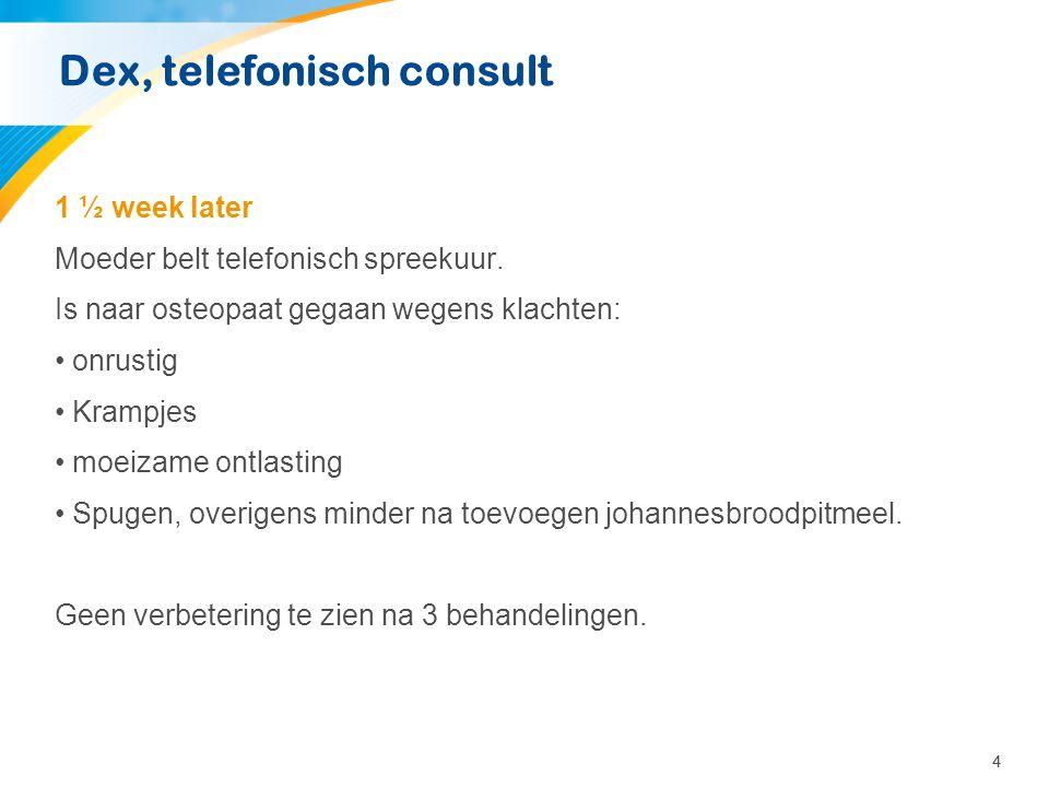 Dex, telefonisch consult