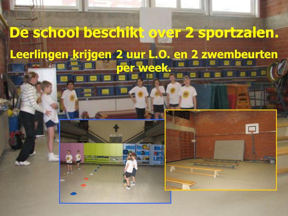 De school beschikt over 2 sportzalen.