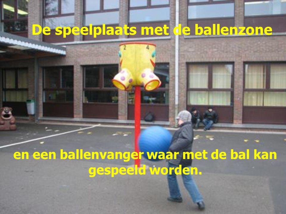 en een ballenvanger waar met de bal kan gespeeld worden.