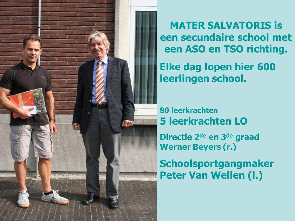 MATER SALVATORIS is een secundaire school met een ASO en TSO richting.