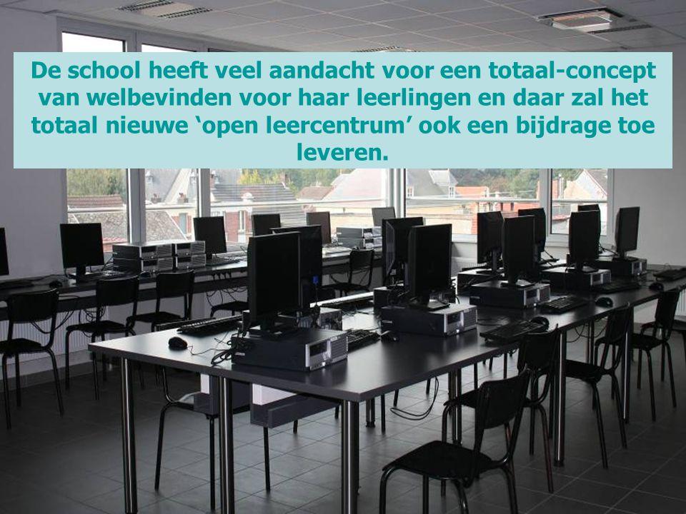 De school heeft veel aandacht voor een totaal-concept van welbevinden voor haar leerlingen en daar zal het totaal nieuwe 'open leercentrum' ook een bijdrage toe leveren.