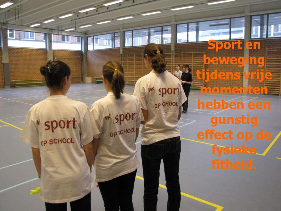 Sport en beweging tijdens vrije momenten hebben een gunstig effect op de fysieke fitheid.