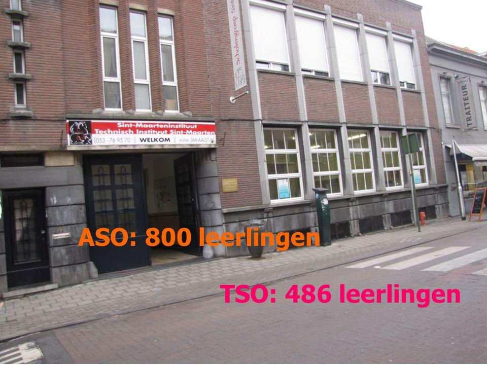 ASO: 800 leerlingen TSO: 486 leerlingen