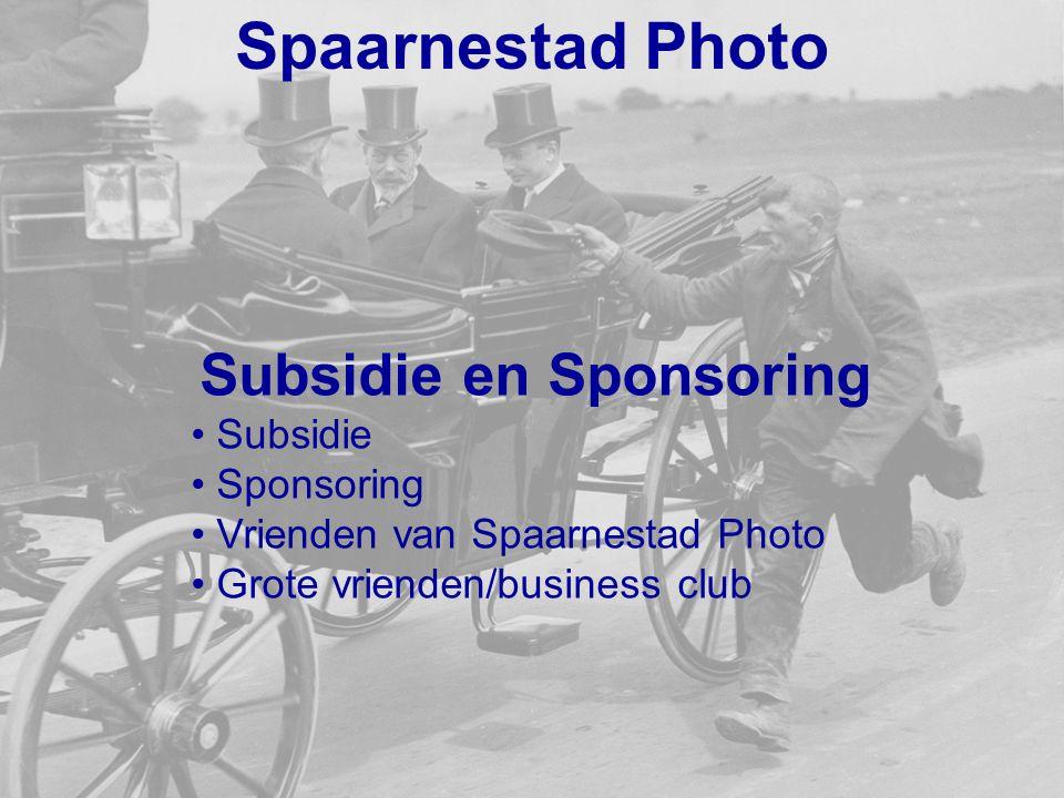 Subsidie en Sponsoring
