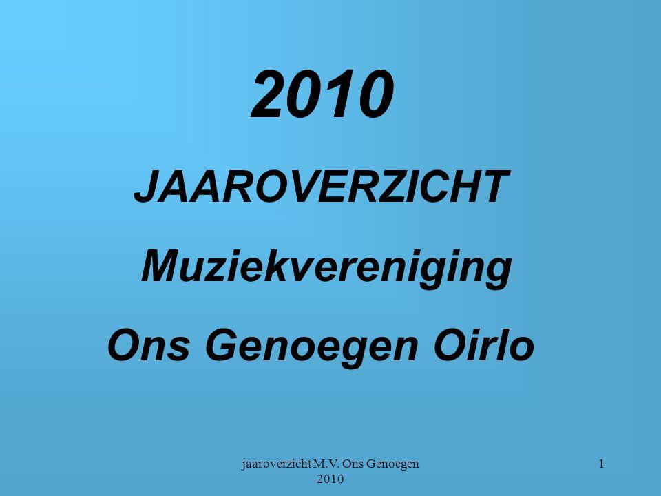 jaaroverzicht M.V. Ons Genoegen 2010