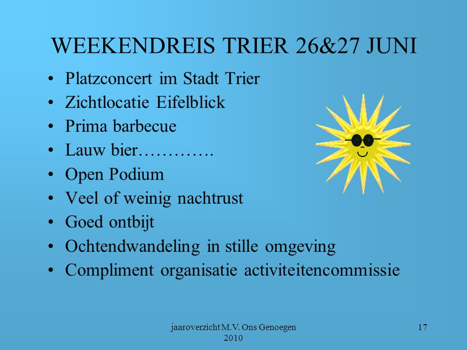 WEEKENDREIS TRIER 26&27 JUNI