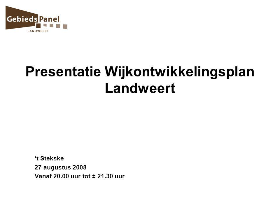 Presentatie Wijkontwikkelingsplan Landweert