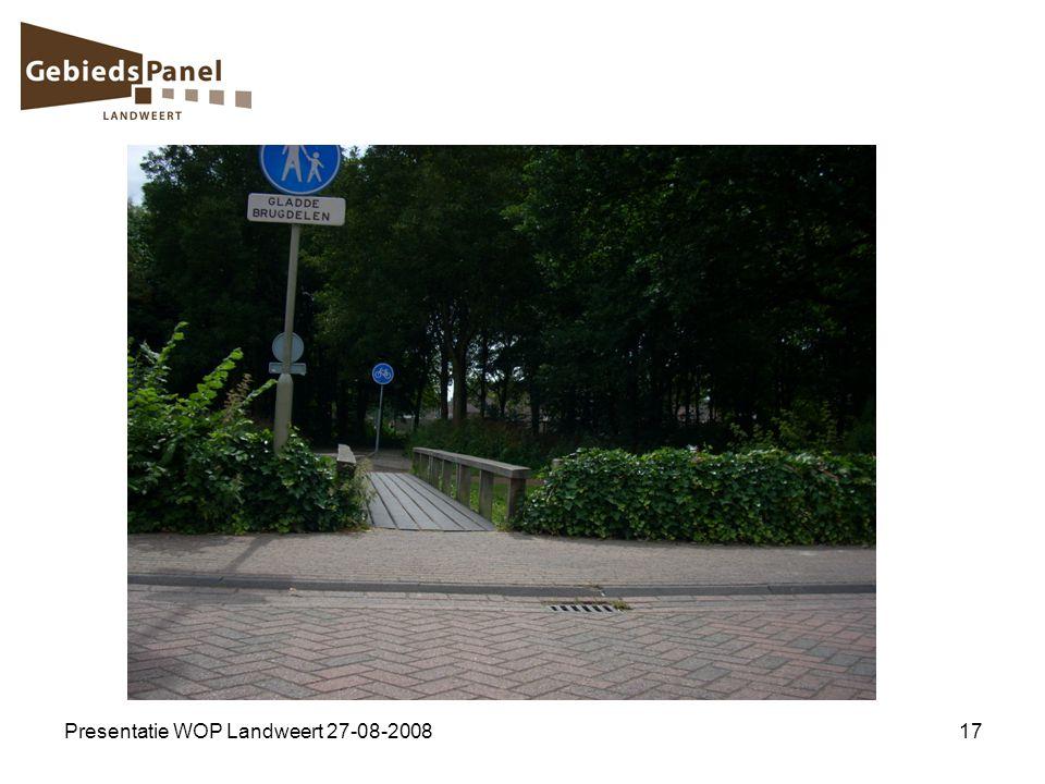 Presentatie WOP Landweert 27-08-2008
