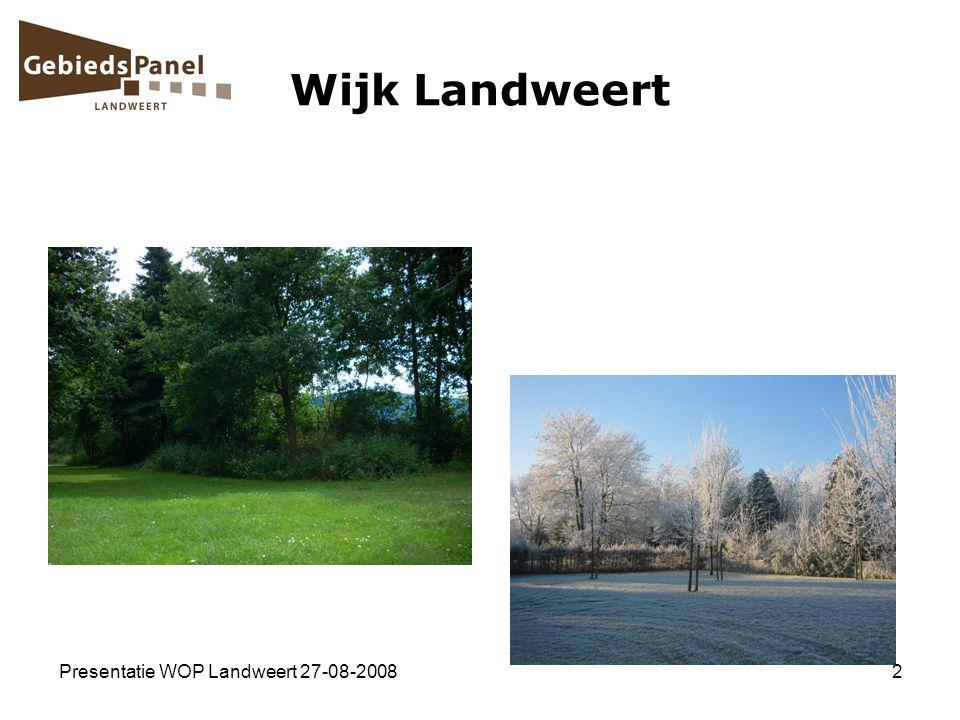 Wijk Landweert Presentatie WOP Landweert 27-08-2008