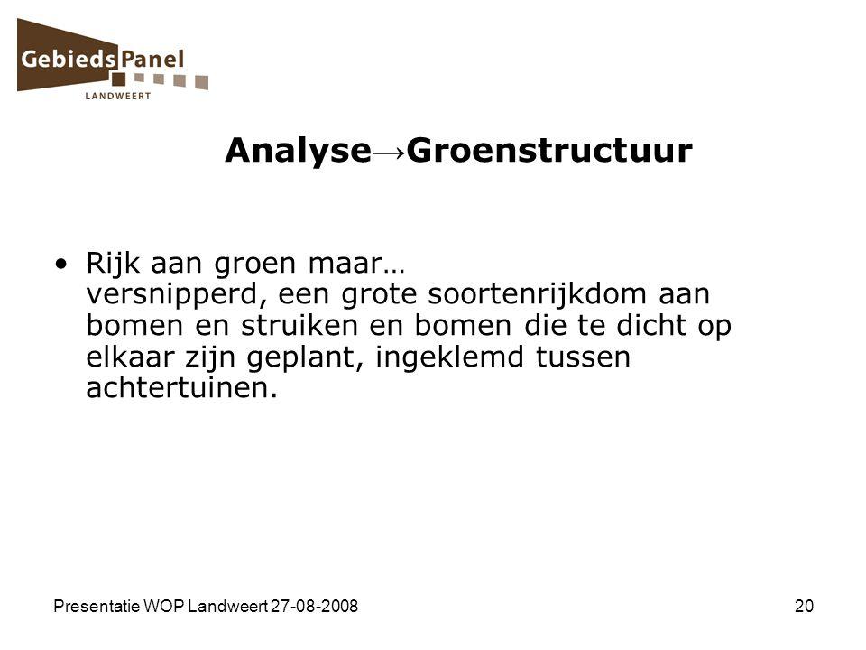Analyse→Groenstructuur