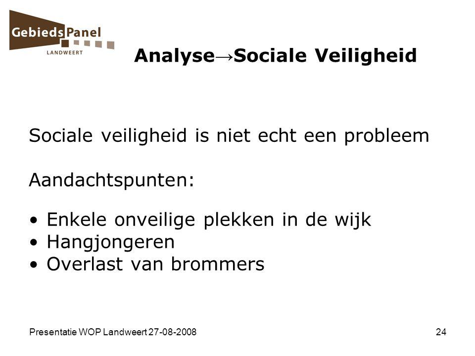 Analyse→Sociale Veiligheid