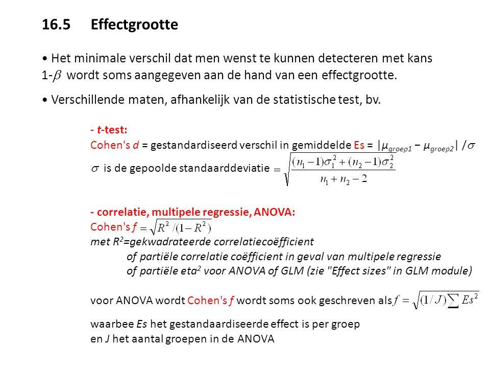 16.5 Effectgrootte