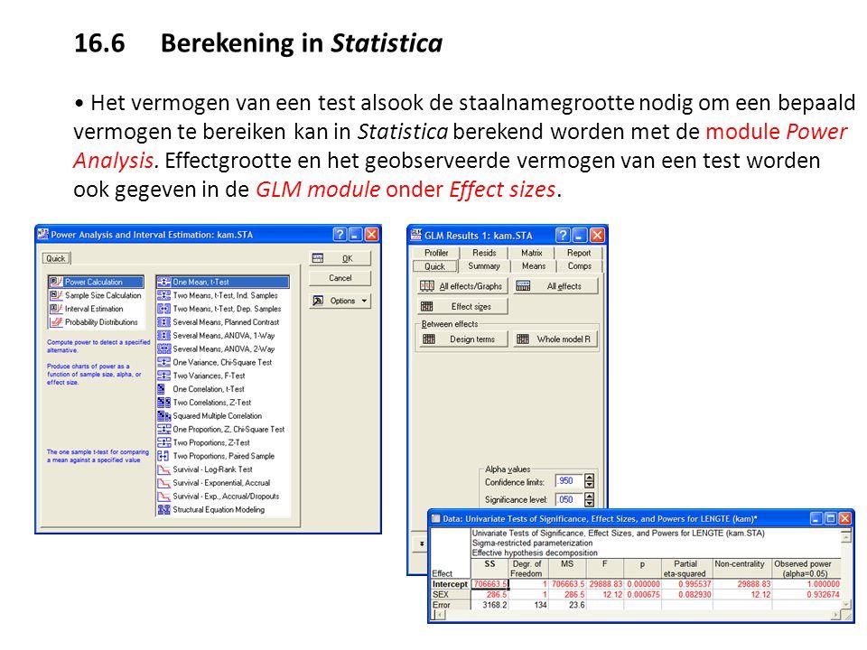16.6 Berekening in Statistica