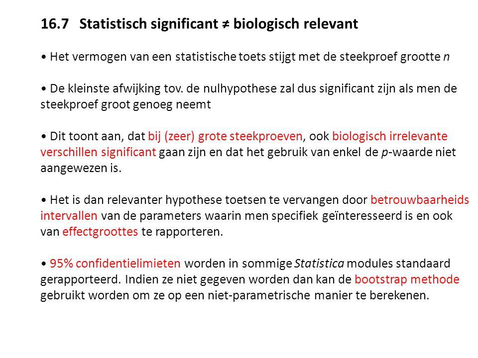 16.7 Statistisch significant ≠ biologisch relevant